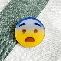 Cheap Lovely Cartoon QQ Expression Badge Acrylic Brooch Pin Various Facial Emoji Kids Bag Decor Birthday Gift
