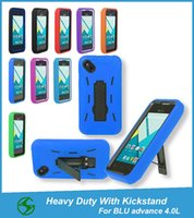 advance super - Shockproof Super Combo Heavy Duty Fully Protective Case With Kickstand For BLU Advance L A010U