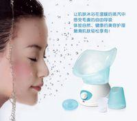 Wholesale New Professional Face Facial Steamer Sprayer Vaporizer Salon Beauty Instrument Machine Skin Treatment Machine Pink Blue Retail Package