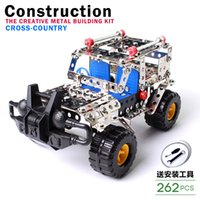 Wholesale Metal Assembles Toy Car Children s Educational Model of The Military The Boy Assembled DIY Disassembling