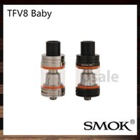 Cheap Smok TFV8 Baby Tank 3.0ml e-Juice Capacity Top Refill TFV8 Baby Cloud Beast Atomizer 100% Original