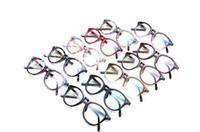 Wholesale LJJL273 Hot PC Vintage Floral Classic Glasses Unisex Plastic Frame Printing Rivet Fashion Anti UV Retro Eyeglasses