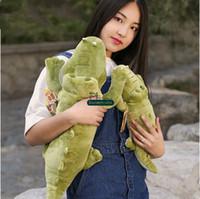 alligator stuffed toy - Dorimytrader cm Giant Stuffed Soft Plush Crocodile Toy Green Alligator Baby Doll DY61050