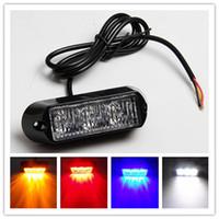 20pcs / lot DC 12V 3W LED impermeable del coche del carro de emergencia del estroboscópico del flash de la bombilla 3 LED Luz de aviso del envío libre