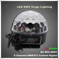Wholesale 2016 new arrivals Channel DMX512 Control Digital LED RGB Crystal Magic Ball Effect Light DMX Disco DJ Stage Lighting