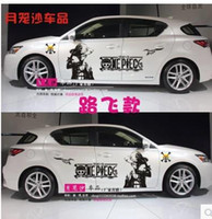 ace cars - One piece car stickers Anime fire boxing ace luffy domineering sauron blademaster car stickers The whole vehicle garland
