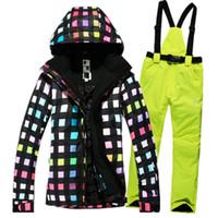 Wholesale NEW Winter ski Suit Women Sets Windproof Breathable Waterproof Women Snow Jackets Pants Warm Clothes skiing Jackets Women