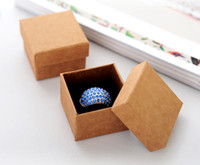 Wholesale Fashion Classic Jewelry Packing Box American Kraft paper Ring Packing Box High Quality g Cardboard Earrings Jewlery Packing Box