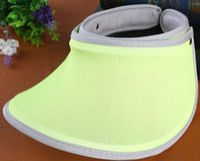 Wholesale SUMMER Running visor fashion outdoor Sun Hats cololr sports cap Visors unisex casual cap sunvisor