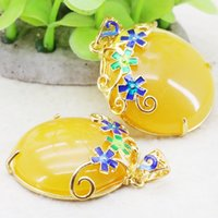 amber craft - High Quality Yellow Round Amber Opaque Resin Jewelry Accessories Diy Imitation Flowers Crafts Gifts Jewelry making mm