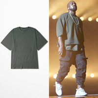 Wholesale KANYE WEST T Shirt OVERSIZE Hip Hop T shirts Men Half Sleeve Justin Bieber Brand Clothing tshirt homme Swag Lovers Streetwear