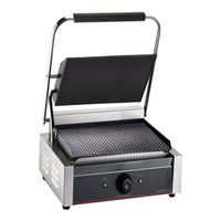 Wholesale XH A Electric contact grill in stock non stick groove sandwich electric commecial contact grill press griddle Panini maker steak maker