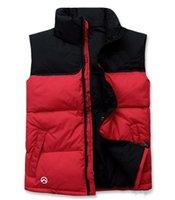 Wholesale 2016 new winter fashion casual Men s vest down vest women down vest red Splice men s Outerwear black