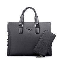 Wholesale Hot Men s Fashion Handbags European and American Business Shoulder Diagonal OL Casual Men s Briefcase Computer Bag