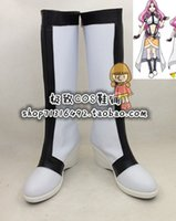 ange shoes - Cross Ange Tenshi to Ryuu no Rondo Cosplay Boots shoes new version white JZ075 hand made Custom made