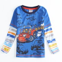 Wholesale 2016 Hot sell Well Cheap Kids Maternity Great Clothing Tees T shirts Boy Handsome quality Factory direct supply Gift children Blue