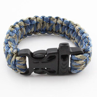 alloy parachute - Custom Paracord Parachute military survival Bracelets Hand Made with colors Camping Equipment DHL free shiping