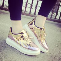 b angels - Cool new wave of angel wings round bottomed platform shoes low shoes sneakers casual shoes shoes