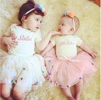Wholesale Ins New Summer Autumn Girls Baby Tutu Dresses Princess Dress Colors Ball Bown Kids Children Bubble Skirts Infants Toddlers Chuzzle Tutu