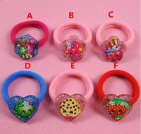 baby world shop - Free DHL Fashion Baby Hairbands Designs Shop Fruits Family baby girls Bling Hair Rubber Bands Shopping world baby ornament Hair Accessaries