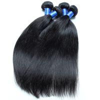 Wholesale Peruvian Human Hair Straight Bundles Virgin Hair Natural Color Black B Dyeable Straight Cheap Unprocessed Virgin Hair Bundle Deals