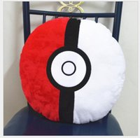 Wholesale POKE Red BALL Plush cm Hold Pillow Figure Model quot pokémon Go Soft Dolls Decorative Pillow Toys Brinquedos Xmas Gifts For Children