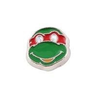 achat en gros de grenouille oeil en direct-Grenouille verte avec Locket Charm Floating Charm DIY alliage Red Eye Floating pour mémoire vivante verre Médaillon