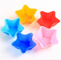 baking classes - Innovative Color Heterogeneous Class Silicone Cake Baking Muffin Cup Pudding Mold Jelly Puff CM