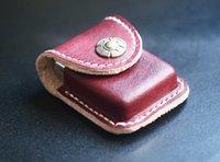 belt lighter holder - New Wine red mm Lighter Leather Sheath Pouch Case Holder Belt Clip