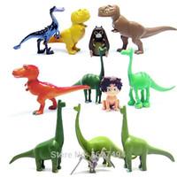 achat en gros de dinosaur toy-12pcs / lot Arlo spot The Good Dinosaur Miniatures Anime PVC Figurines Dinosaures film Figurines Set Enfants Jouets pour Garçons Filles