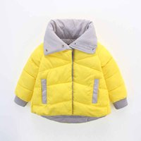 Wholesale In the new turn type collar to children cotton padded jacket
