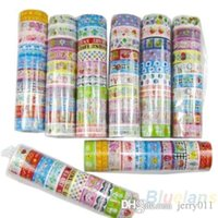 Wholesale 10 rolls set of kawaii lovely deco cartoon tape scrapbooking adhesive paper sticker PVC O1C