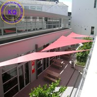 Wholesale x3 x5 M Triangle Waterproof Sun Shade Sail Polyester fabric PU coated with free ropes for garden pool