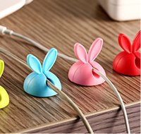 Wholesale Rabbit ears data line fixed device silica gel cable winder desktop viscose electrical wire winding device ODF005
