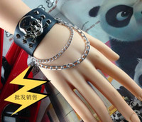 asian antiquities - In business Domineering personality antiquity gloves multilayer integrated chain rivet punk fashion jewelry style bracelet
