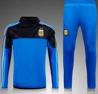 argentina jacket - Fall NEW Argentina training suit football Jacket Argentina soccer skinny pants Argentina tracksuit futbol sweatshirt pant