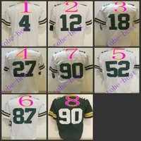 aaron rodgers authentic jersey - brett favre aaron rodgers Nik Elite Football Jerseys Best quality Authentic Jersey Embroidery Logo Size M XL Can Mix Order