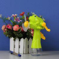 Wholesale Portable hand cranking fan cartoon fan Spray mist electric fan handheld fans kids Best Summer holiday toys