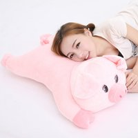 Wholesale 95cm Big New Soft Animal Pig Stuffed Doll Giant Cartoon Pink Pigs Stuffed Toy Pillow Baby