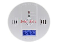 Wholesale Hot sale CO Carbon Monoxide Detector Smoke Home Alarm Safety Gas Fire Poisoning Warning Alarm Sensor Battery Operated Alert LED Display