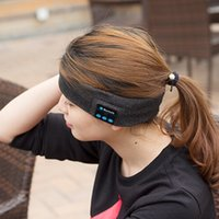 adjustable riding hat - Bluetooth Music Phone Sport Sweatband Sweat Band For Cycling Running Riding Yoga Headband Head Band Hair Band VS Bluetooth Hat