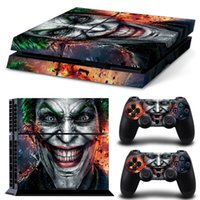 Cheap Play station 4 Console Vinyl Decal Skin Cover & PS4 Remote Controllers Skin Stickers - The Joker Smile Clown Prince of Crime