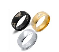 american indian legends - Hot Sale mm LEGEND of ZELDA Ring Shiny Black Men s Tungsten Carbide Wedding Ring For Men and woman Domed Ring