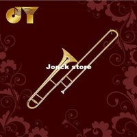 b flat trombone - Tenor Trombone B flat JYTB E110G Direct Gold Lacquer official security check