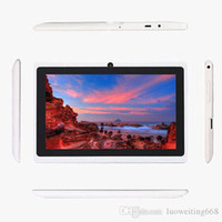 Wholesale 7inch A33 quad core Q88 tablet Allwinner android GHz GB RAM GB Bluetooth Wifi X