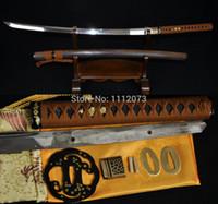 antique japanese katanas - 41 inch JAPANESE SAMURAI KATANAS FUNCTIONAL SWORD Clay Tempered UNOKUBI ZUKURI BLADE