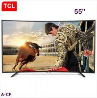 TCL 55 pouces courbes haute gamme de couleurs huit-cœur Android LED LED TV micro-canal Internet, Résolution 1920 * 1080 Full HD TV