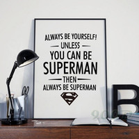 ace poster - ACE ART Superman Quote Canvas Art Print Poster Wall Pictures for Home Decoration Frame not include