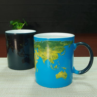 best tea world - DHL best gifts wake up world ceramic heat sensitive magic full color changing mug tea cups