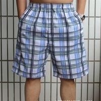 Wholesale Waist cm New Elastic Waist Plaid Cotton Beach Pants Men s Casual Pants Large Yards Pants Plus Size